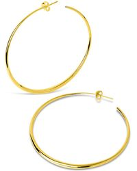 Dinny Hall - Large Vermeil Signature Tapering Hoop Earrings - Lyst