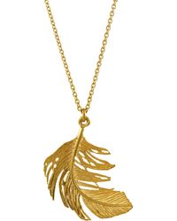 Alex Monroe - Large Feather Necklace - Lyst