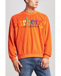 Burberry - Rainbow Logo French Terry Sweatshirt - Lyst