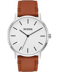 Nixon - Porter Leather Watch - Lyst