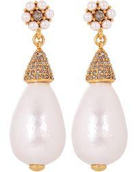 Oscar de la Renta - Gold-plated Baroque Pearl Drop Earrings - Lyst