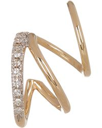 Maria Black - Gold Diamond Fury Twirl Earring Left - Lyst