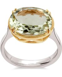 Dinny Hall - Silver And Gold Cassiopeia Green Amethyst Ring - Lyst