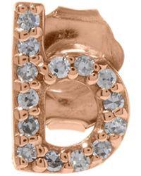 KC Designs | Rose Gold Diamond B Single Stud Earring | Lyst