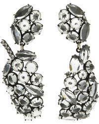 Lulu Frost - Silver-plated Diamanda Statement Leaf Earrings - Lyst