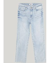 PAIGE - Hoxton Fray Straight Jean - Lyst