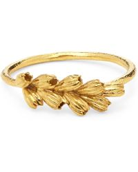 Alex Monroe - Gold-plated Clustered Seed Pod Ring - Lyst