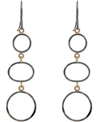 Melissa Joy Manning - Gold Elliptical Drop Earring - Lyst