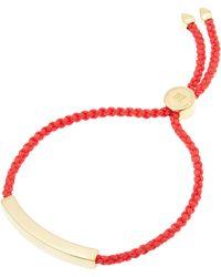Monica Vinader - Gold Vermeil Linear Cord Friendship Bracelet - Lyst