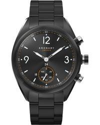 Kronaby - Apex Stainless Steel Black Metal Strap Smart Watch - Lyst