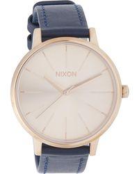 Nixon - Leather Strap Kensington Watch - Lyst