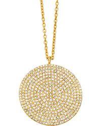 Astley Clarke - Gold Large Icon Diamond Pendant Necklace - Lyst