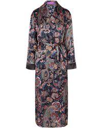 Liberty - Florence Silk Satin Long Robe - Lyst