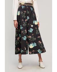 Peter Pilotto - Floral-print Cotton Culottes - Lyst