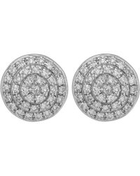 Monica Vinader | Gold Vermeil Diamond Ava Button Stud Earrings | Lyst
