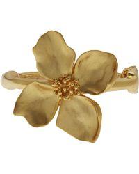 Oscar de la Renta - Gold-tone Flower Bracelet - Lyst