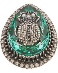 Alexander McQueen - Jewel Beetle Ring - Lyst