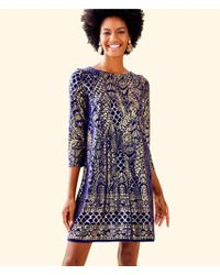 Lilly Pulitzer - Ophelia Metallic Swing Dress - Lyst