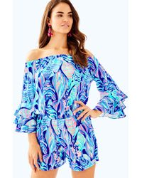 Lilly Pulitzer - Calla Off The Shoulder Romper - Lyst