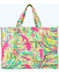 Lilly Pulitzer - Sunbathers Foldable Beach Tote Bag - Lyst