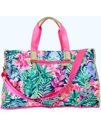 Lilly Pulitzer - Palm Packable Weekender Tote Bag - Lyst