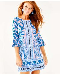 cda22ebf56f Lilly Pulitzer Percilla Tunic Dress in Blue - Lyst