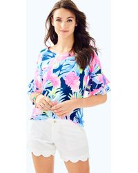 "Lilly Pulitzer - 5"" Buttercup Scallop Hem Short - Lyst"
