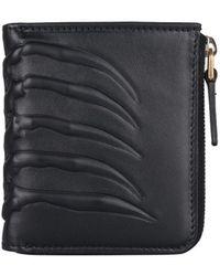 Alexander McQueen - Ribcage Zip Around Leather Wallet - Lyst