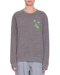 Rosie Assoulin - Cotton Blend Sweatshirt - Lyst