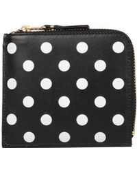 Comme des Garçons - Polka Dots Leather Wallet - Lyst