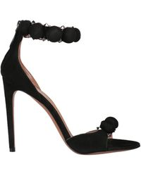 Alaïa - Studded Suede Sandals - Lyst