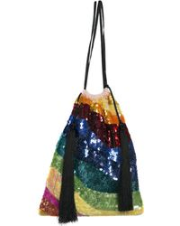 Attico - Sequined Georgette Bag - Lyst