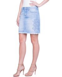 Liverpool Jeans Company - Godet Embroidered Skirt - Lyst