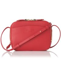 L.K.Bennett - Mariel Roca Red Shoulder Bag - Lyst