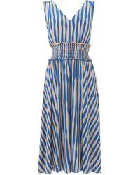 L.K.Bennett - Ambery Blue Stripe Dress - Lyst