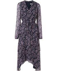 L.K.Bennett - Licia Blue Lavender Silk Dress - Lyst