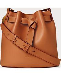 L.K.Bennett - Gabrielle Tan Leather Shoulder Bag - Lyst