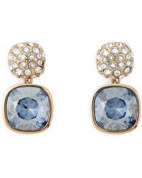 L.K.Bennett - Erin Gold Crystal Earrings - Lyst