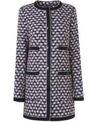 L.K.Bennett - Netti Navy Wool Jacket - Lyst