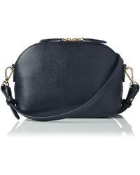 L.K.Bennett - Candice Navy Leather Bag - Lyst