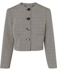 L.K.Bennett - Mableen Navy And Cream Stripe Jacket - Lyst