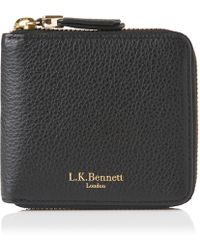 L.K.Bennett - Penelope Black Leather Purse - Lyst