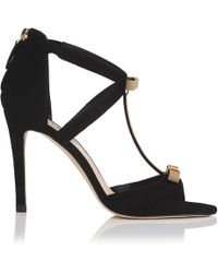 L.K.Bennett - Niki Black Suede Formal Sandals - Lyst