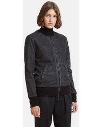 Giorgio Brato - Suede Scale Leather Jacket In Black - Lyst