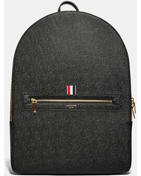 Thom Browne | Men's Large Pebble Grained Backpack In Black | Lyst