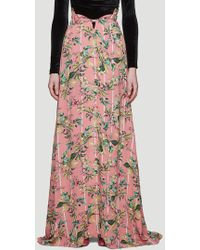 Vetements Flowers Button-down Skirt In Pink