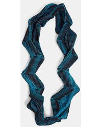 Issey Miyake - Planet Three-dimensional Scarf In Turquoise, Burgundy And Black - Lyst
