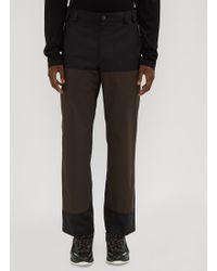 Lanvin - Rivet Panel Pants In Black - Lyst