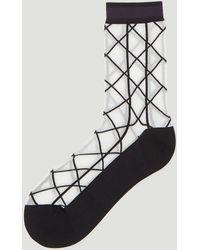 Issey Miyake - Black And White Sunlight Socks - Lyst