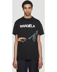 Maison Margiela - Logo T-shirt In Black - Lyst